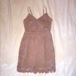 New Blush Lace Mini Dress
